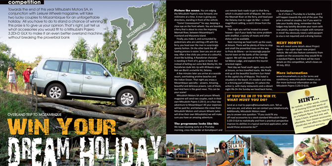 Win Your Dream Holiday with Mitsubishi