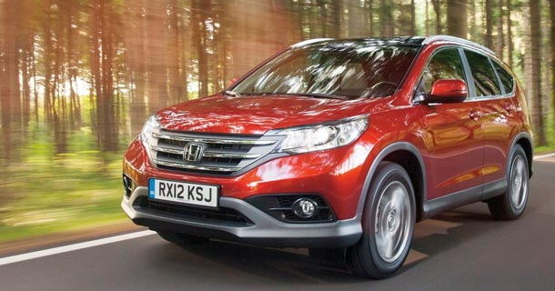 A front view of the 2013 Honda CR-V