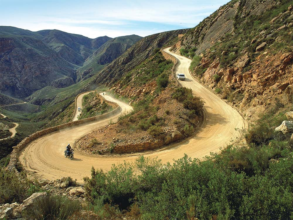 The scenic Swartberg Pass is truly a driver's dream.