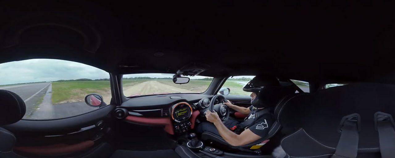 Chris Harris shows off the new Top Gear Rallycross track
