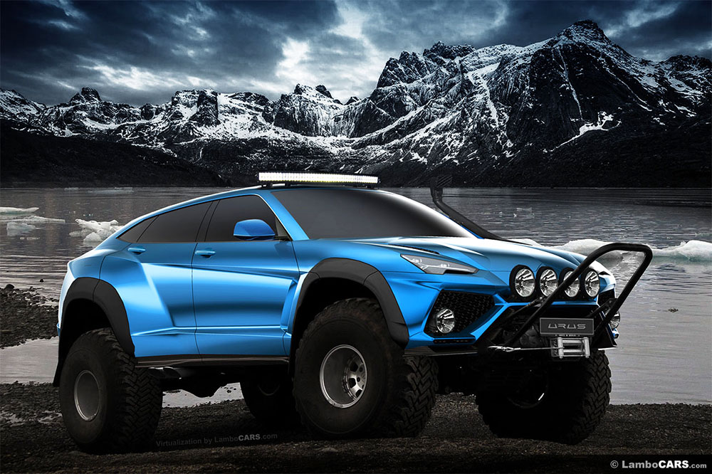 lamborghini urus suv renderings show off production ready car leisure wheels. Black Bedroom Furniture Sets. Home Design Ideas