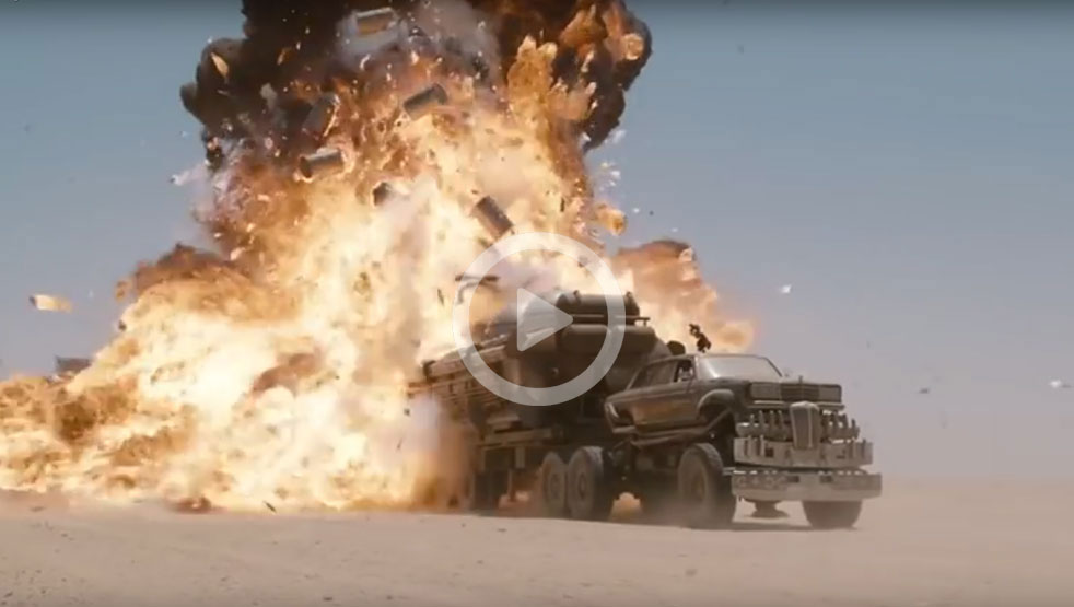 Raw Footage Of Mad Max Fury Road Crashes And Explosions Leisure