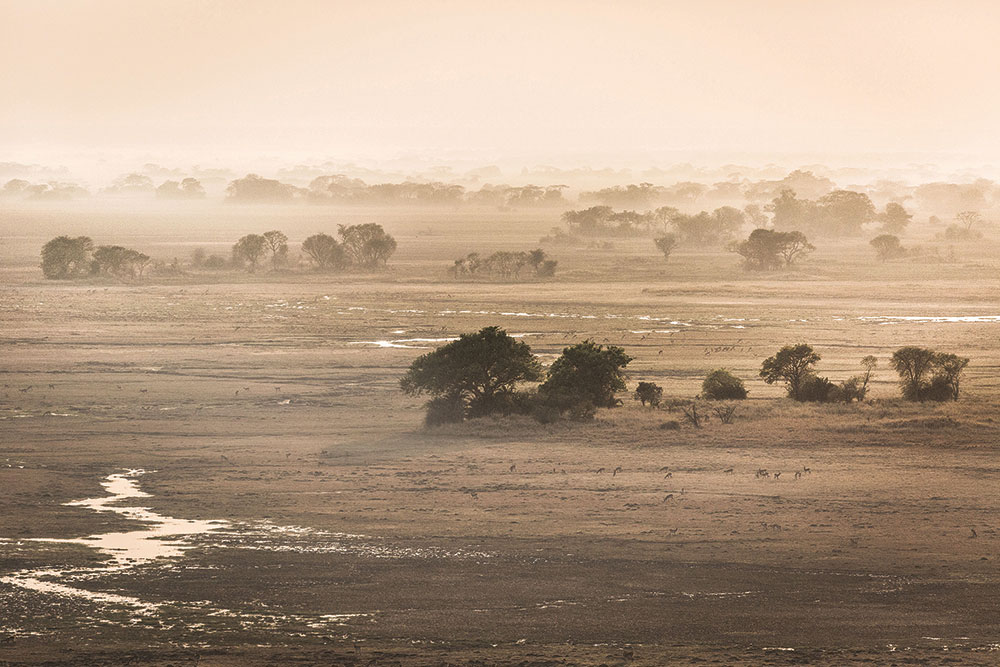 The haze in the air can't hide Busanga's beauty for long