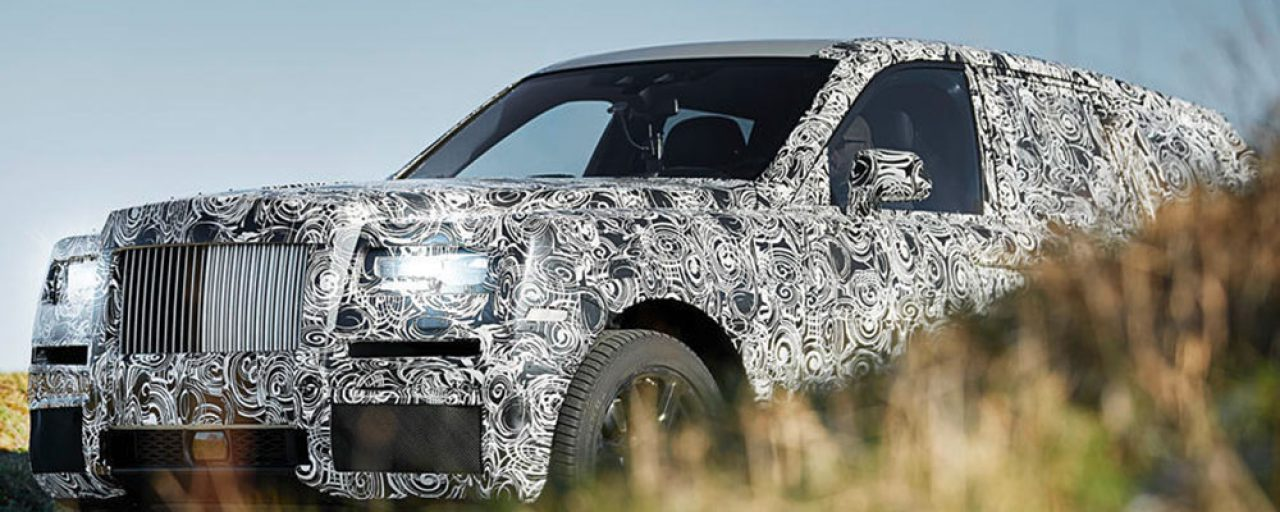 First glimpse of the Rolls-Royce Cullinan SUV