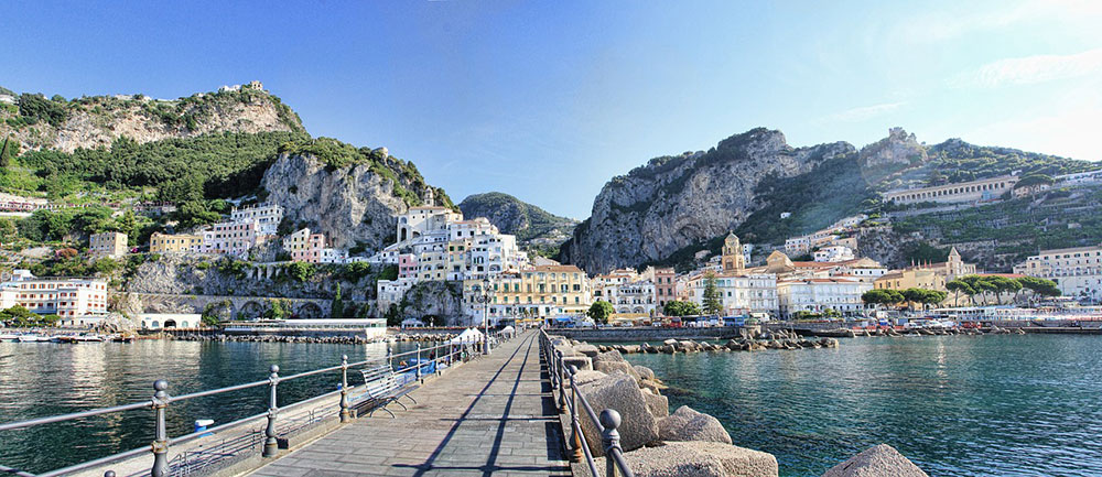 Coastline on the Amalfi Coast