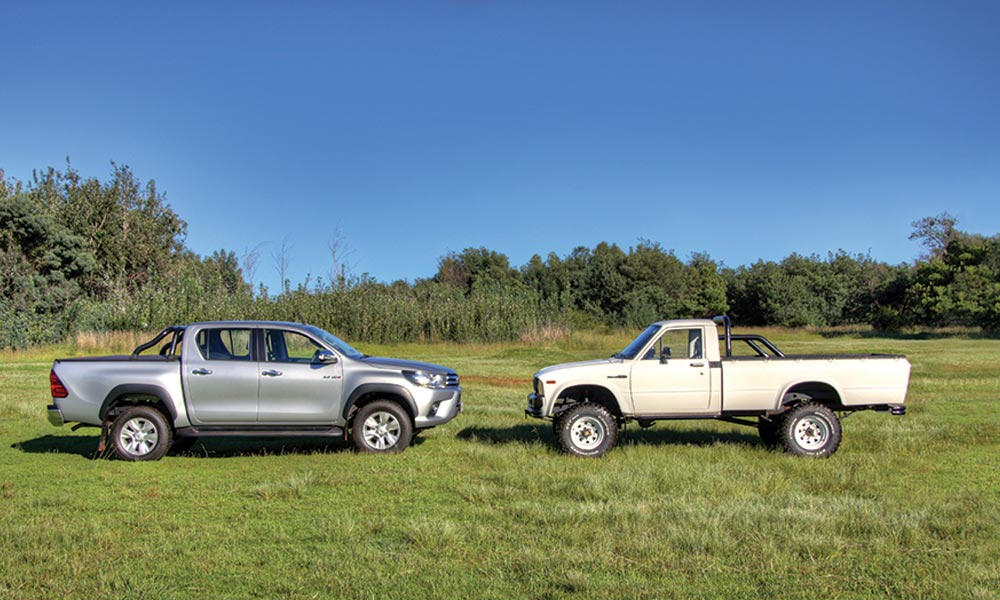 Off Road Test 1979 Toyota Hi Lux Versus 2017 Toyota Hilux Leisure
