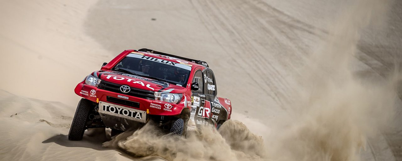 Poulter/von Zitzewitz moves up into second place in 2017 Qatar Cross Country Rally