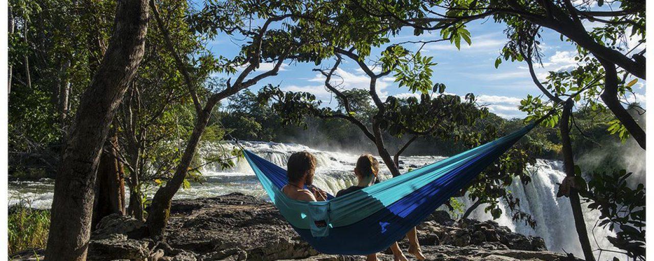 A breathtaking waterfall or two on the #SuzukiAfricaSkyHigh adventure