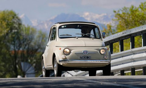 The iconic Fiat 500 is an official artwork