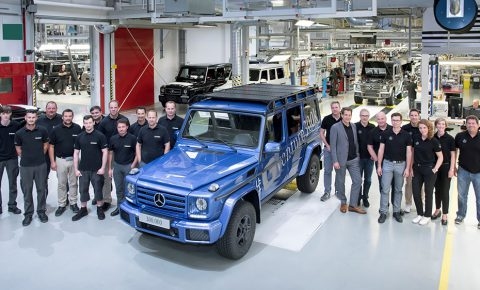 Mercedes G-Wagen number 300 000 rolls off the production line