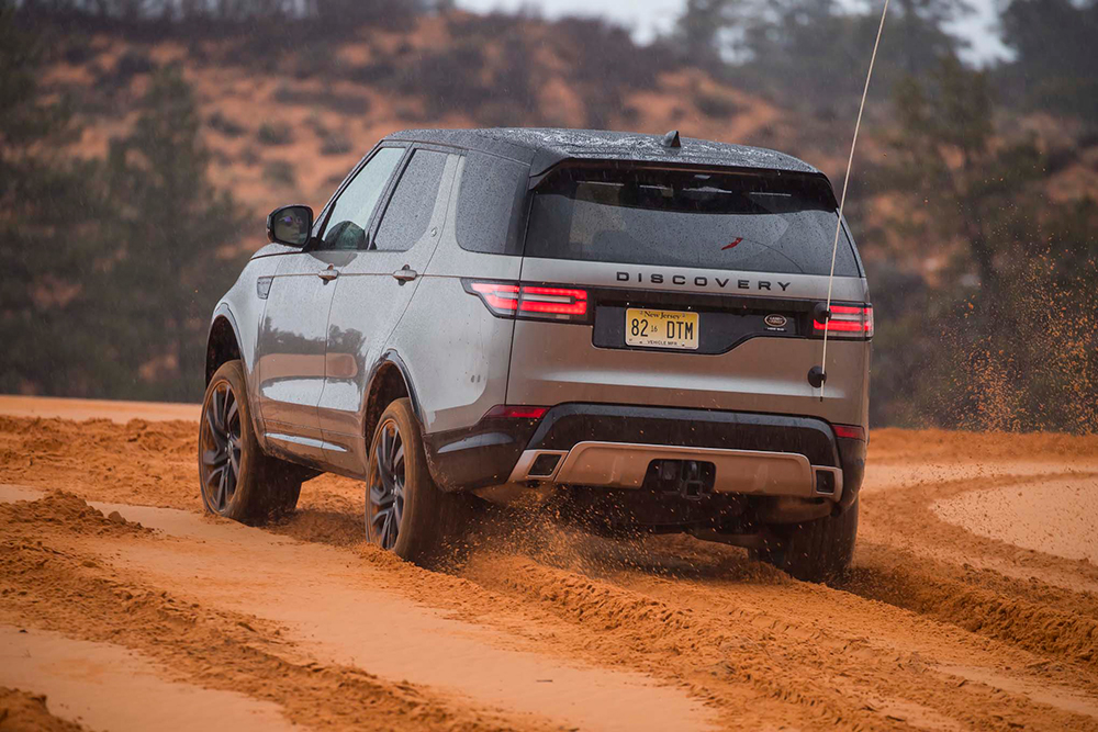 drive the new land rover discovery in namibia or utah. Black Bedroom Furniture Sets. Home Design Ideas