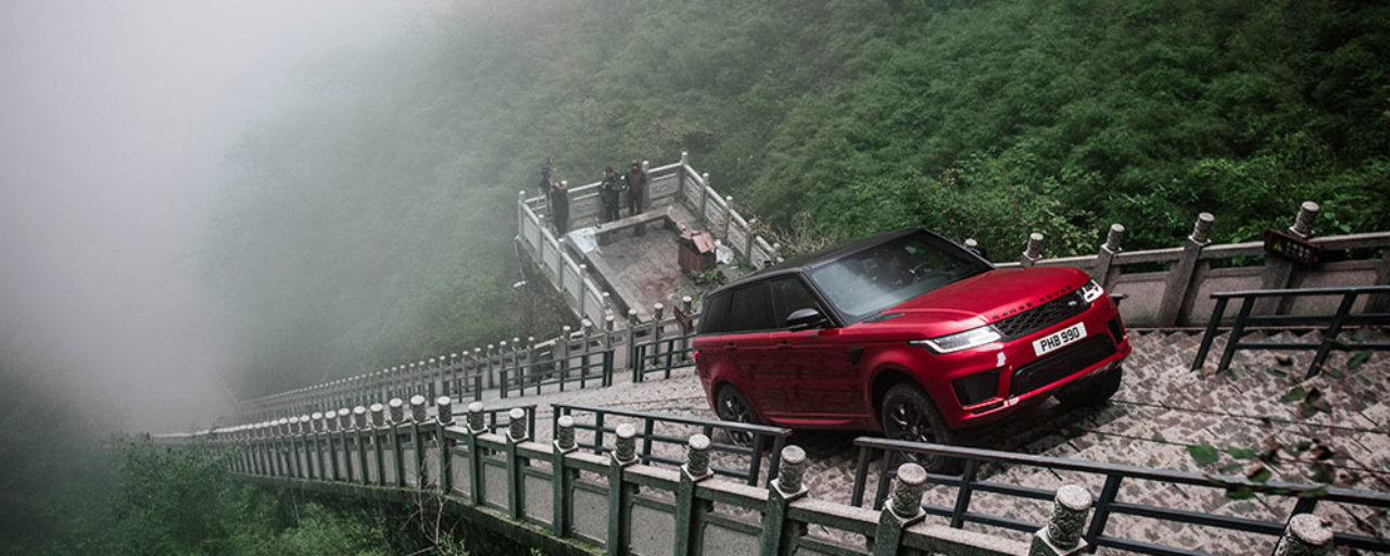 New Range Rover Sport climbs stairway to heaven