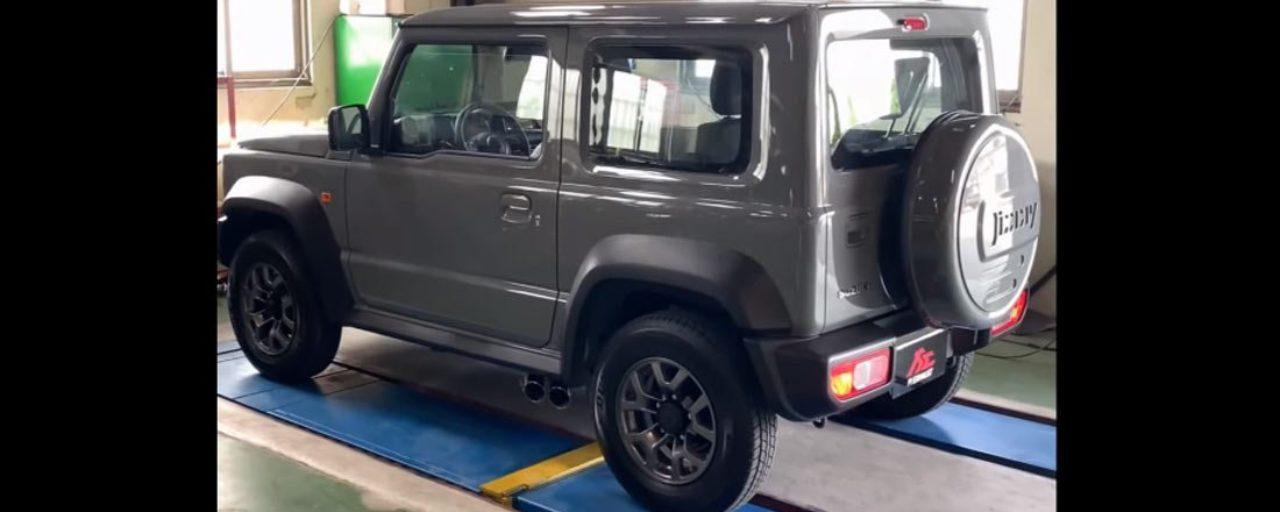 Suzuki Jimny gets G63-like side exhaust