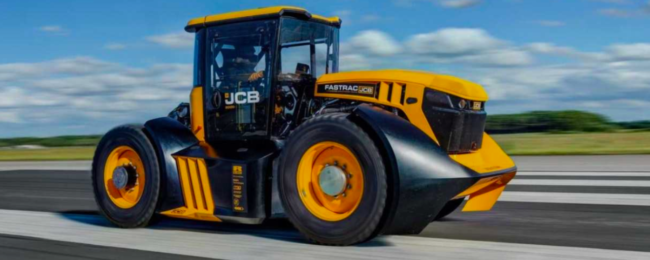 JCB sets new world record for fastest tractor